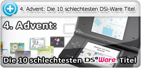 4. Advent: Die 10 schlechtesten DSiWare-Titel